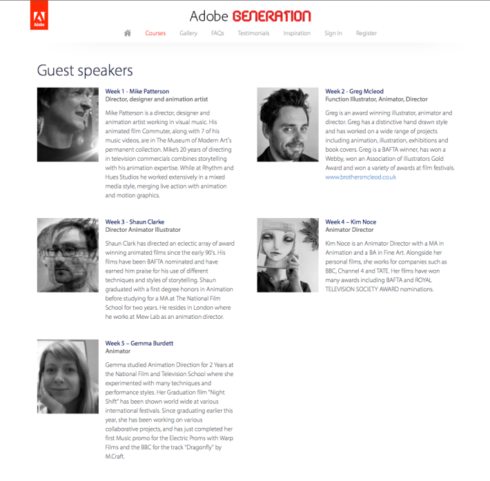 Mewlab guest speakers for adobe generation